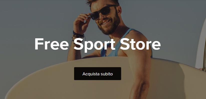 """Presentato in anteprima per l'Italia il sito di moda e sport """"Free Sport"""""""