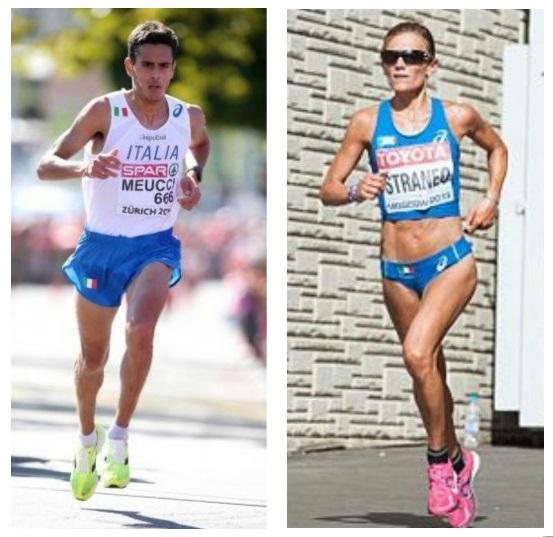 Daniele Meucci e Valeria Straneo in gara a Siena nella Tuscany Camp Marathon dell' 11 aprile