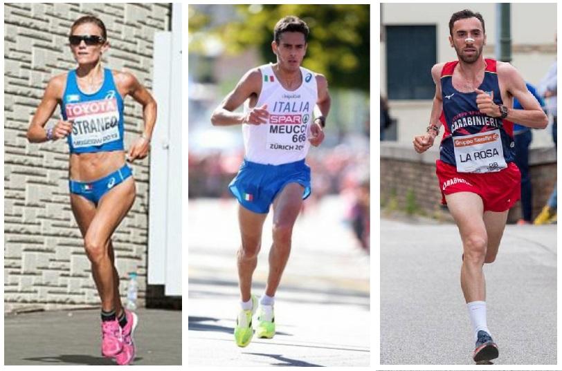 Valeria Straneo, Daniele Meucci e Stefano La Rosa domenica al via della Maratona di Berna