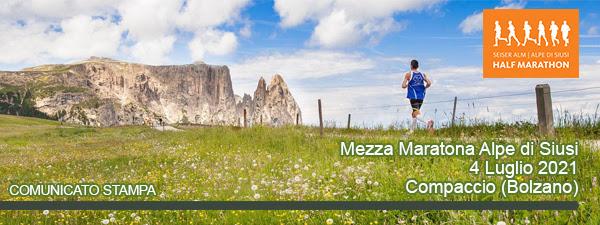 Confermata la Mezza Maratona dell'Alpe di Siusi 2021 nella prima domenica di luglio