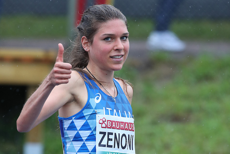 Marta Zenoni torna e vince i 3000 metri a Rodengo Saiano (Brescia)
