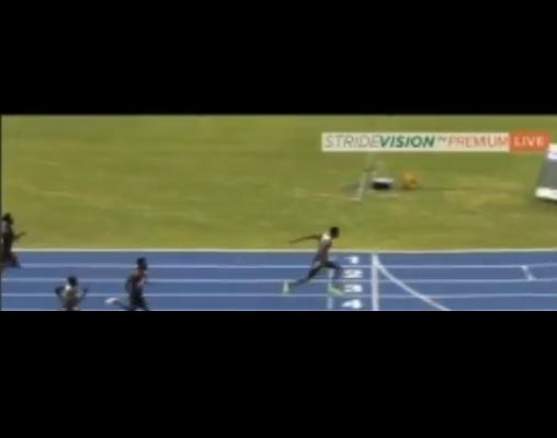 Miglior prestazione europea di Hughes nei 200 metri a Kingston
