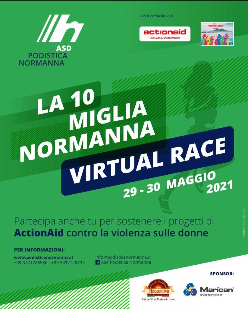 """L'impegno della Podistica Normanna:  una """"Virtual Race"""" per sostenere i progetti contro la violenza sulle donne."""