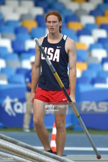 NAPLES, ITALY - JULY 12: Carson Cody Waters of USa during Men's Pole Vault Final on July 12, 2019 in Naples, Italy. (Photo by Ivan Romano/Getty Images)