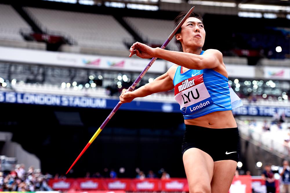Lanci in Cina: Lu Huihui lancia 66,55 nel giavellotto e Gong Lijiao 19,58 nel peso