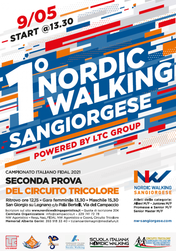 L'Us Sangiorgese raddoppia, nasce il 1° SANGIORGESE NORDIC WALKING Powered by LTC