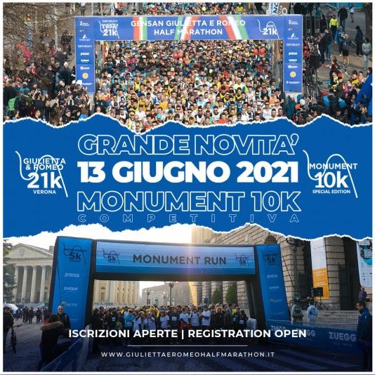Giulietta&Romeo Half Marathon raddoppia con la Monument Run 10k Special Edition