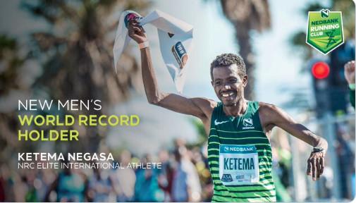 Record mondiale dei 50 km maschili dell'etiope Ketema Negasa con 2:42:07