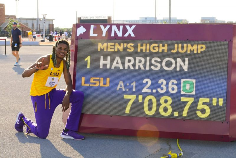 JuVaughn Harrison (Mr Jumps)  impressiona saltando 2,36 (WL) nell'alto e 8,24 nel lungo ai Campionati SEC