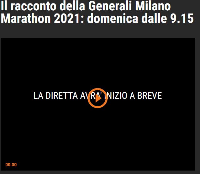 In TV e streaming (differita) la Milano Marathon 2021 del 16 maggio