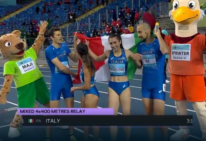 World Realys Chorzow: Splendido oro per l'Italia nella 4x400 metri mista
