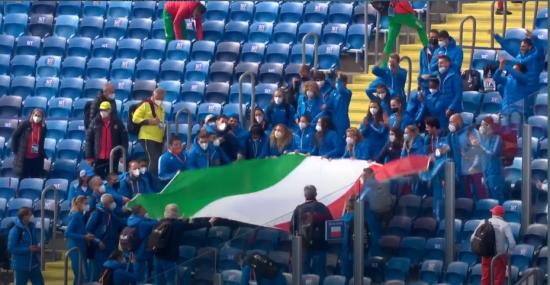 podio italia copa europa 2021