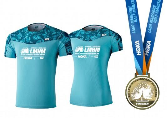 Le morbide onde del Lago sono nella T-shirt tecnica della Lago Maggiore Half Marathon