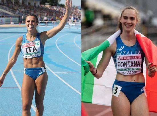 Luminosa Bogliolo e Vittoria Fontana in gara Sabato all' Arena di Milano