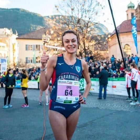 Giovanna Epis domenica nella 10 Km della Milano&Monza Run Free