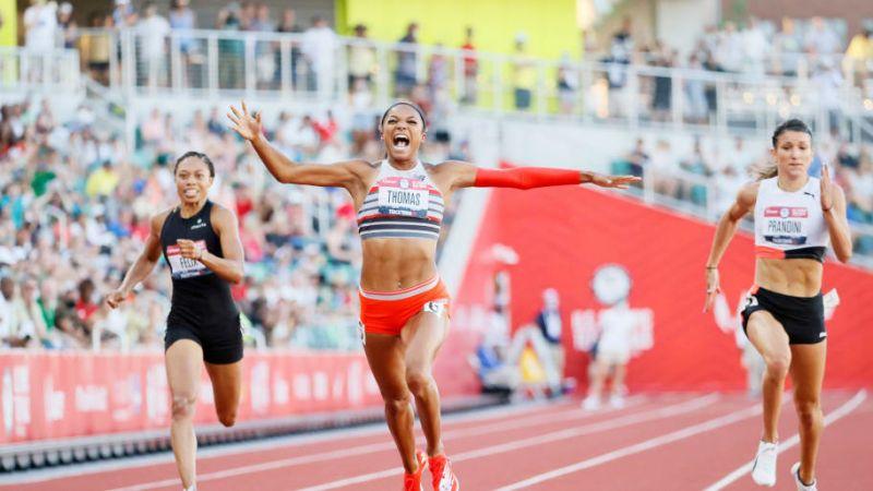 Trials Usa: Gabby Thomas corre il secondo 200 metri più veloce della storia, Erriyon Knighton batte il record mondiale U20 di Bolt