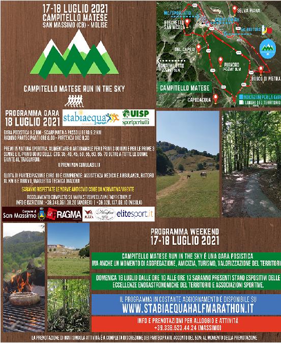Prima edizione della gara podistica Campitello Matese Run in the Sky 2021 (17-18 luglio 2021)