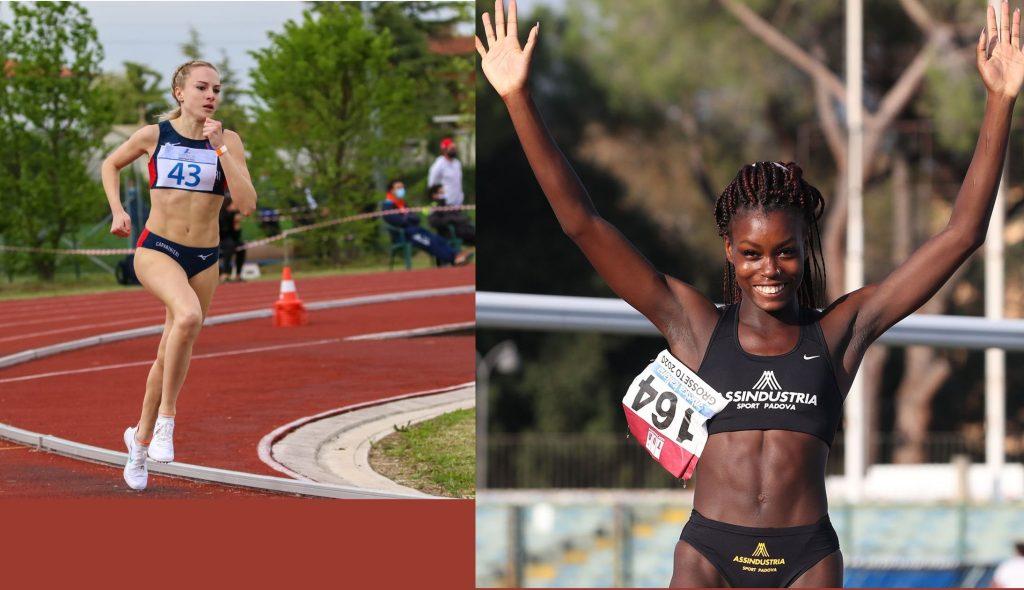 Conegliano: Federica Del Buono vince i 1500 metri, la giovane Rebecca Pavan cresce nell'alto