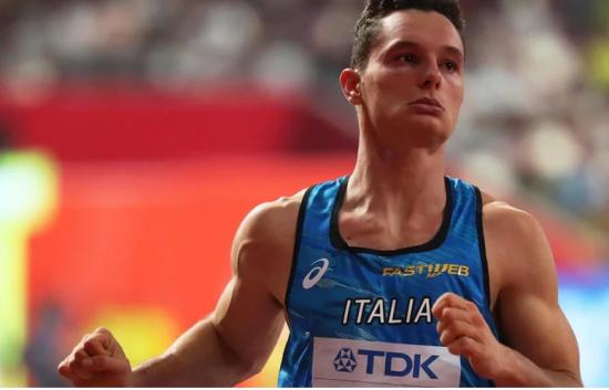 Filippo Tortu corre i 100 metri a Ginevra in 10.30 con vento contrario di -1,7