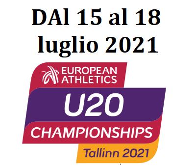 Europei juniores Tallin: ecco gli azzurri in gara da giovedì 15 a domenica 18 luglio- Tv e Streaming