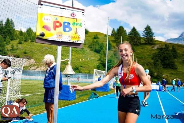 Giada Donati vittoria a Sestriere nei 300 m cadette e nuovo personal best