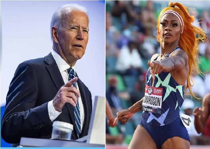 Il presidente Usa Joe Biden interviene sulla sospensione della velocista Sha'Carri Richardson per marijuana