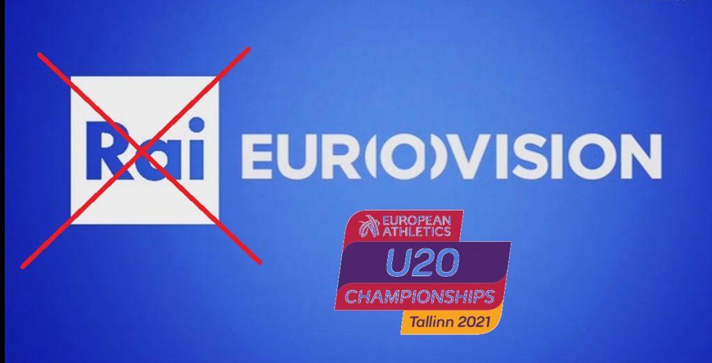 Europei U 20 Tallin: mattinata di gare ancora senza copertura RAISPORT!