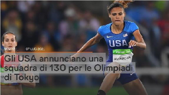 Olimpiadi Tokyo 2020: gli USA annunciano una squadra di 130 atleti