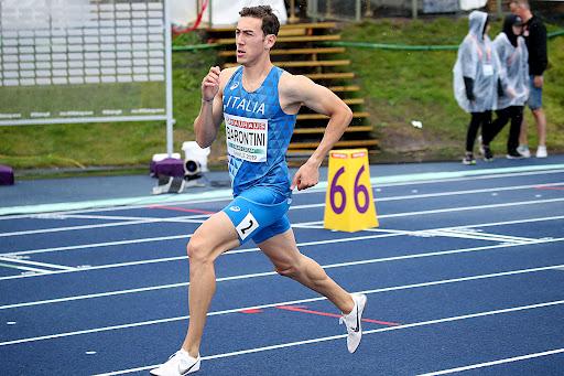 Simone Barontini vince gli 800 metri  del 32esimo Meeting Arcobaleno di Celle Ligure (Savona)