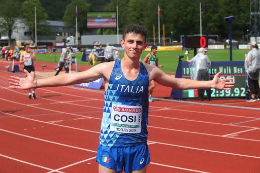 Europei U23 Tallin: Andrea Cosi conquista uno splendido bronzo nella 20 Km di marcia
