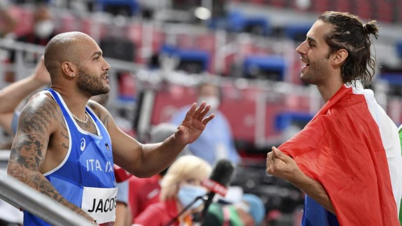 Jacobs-Tamberi: l'Italia impazzisce per (l'oro) loro