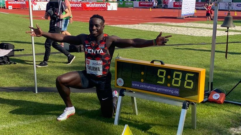 "Il keniano Omanyala in finale corre in 9""86 i 100 metri in Austria"