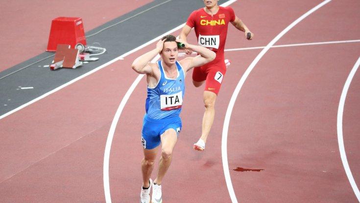Filippo Tortu in gara nei 200 metri a Chorzow il 5 settembre