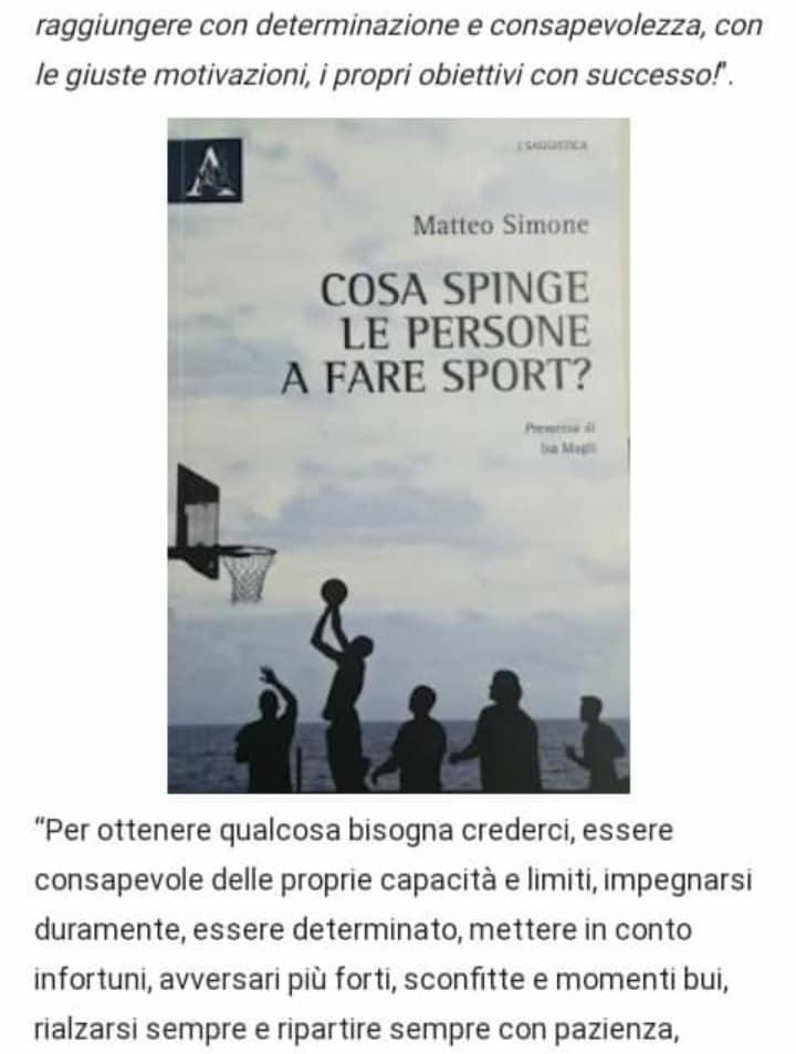 Cosa c'è dietro lo sport? Passione e determinazione, fatica e impegno- di  Matteo SIMONE