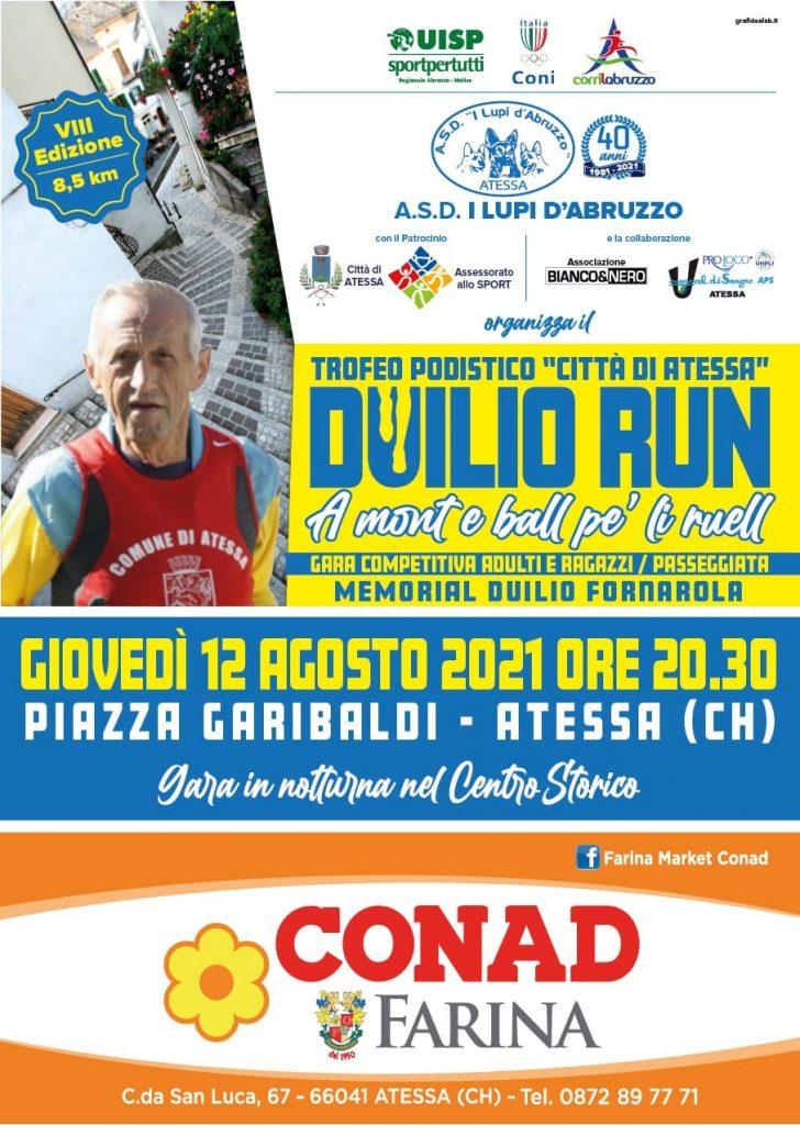 Duilio Run, la festa del podismo allargata anche ai bambini e ai giovani il 12 agosto ad Atessa