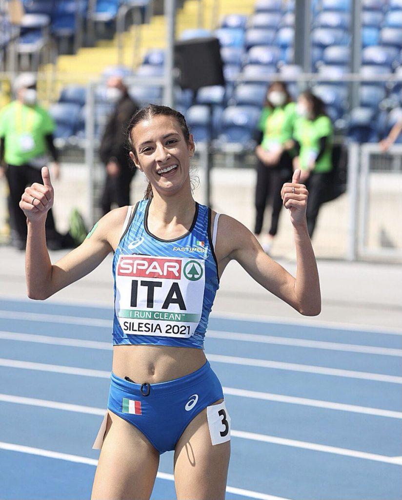 Nadia Battocletti vince i 2000 a Cles col record italiano promesse