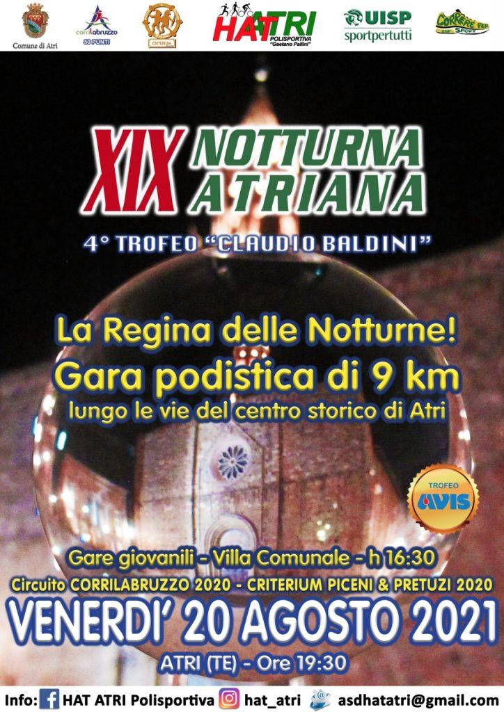 Conto alla rovescia per la 19°edizione della Notturna Atriana-Trofeo Claudio Baldini