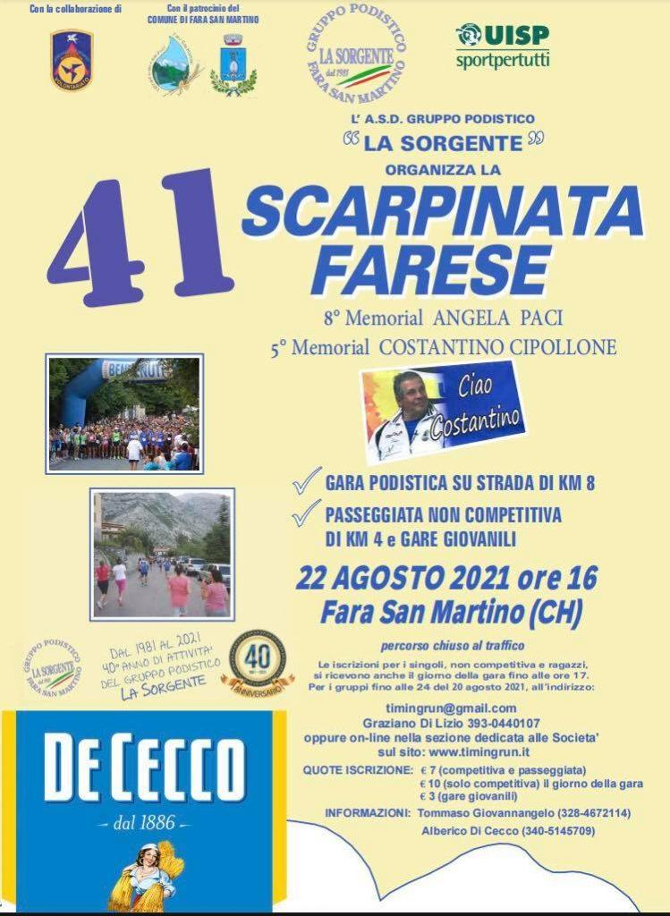 Scarpinata Farese, 41 edizioni e non sentirle!