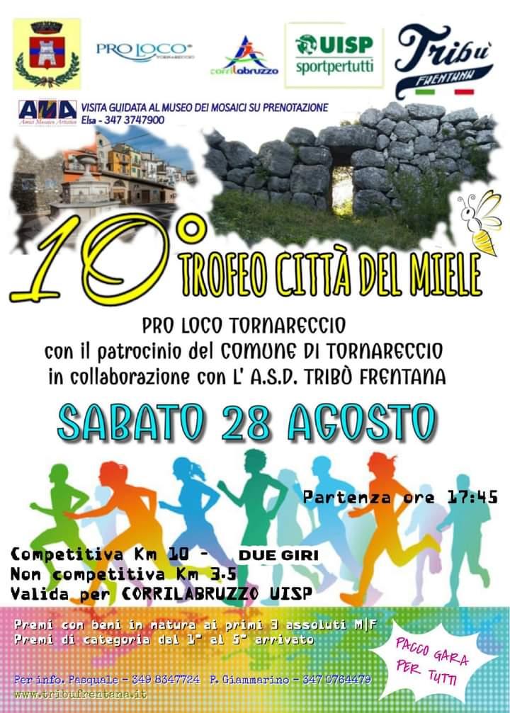 Trofeo Città del Miele, il 28 agosto a Tornareccio ecco il tandem podismo e gastronomia