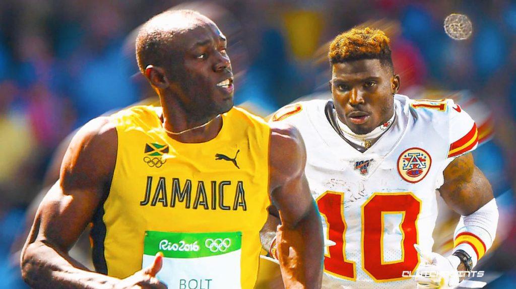 Bolt mette in gioco una medaglia d'oro olimpica per correre contro il giocatore di Football americano Tyreek Hill