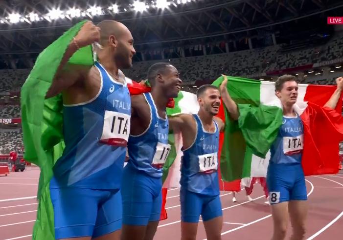 Olimpiadi Tokyo Atletica: DEVASTANTE ITALIA, ORO nella 4X100 maschile