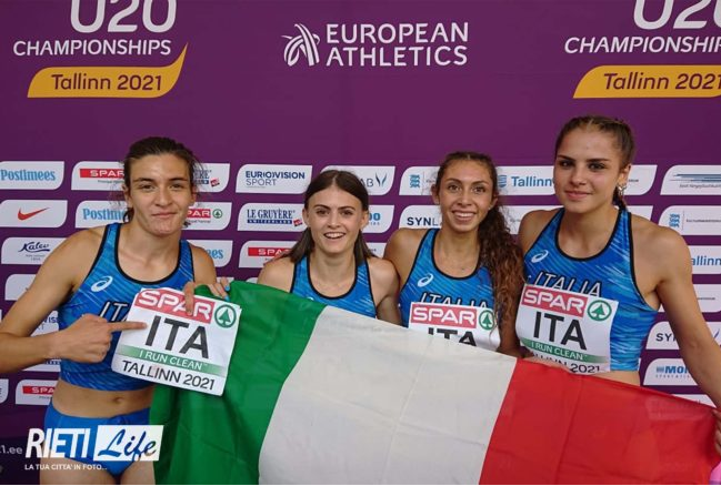 Mondiali U20 Nairobi: splendido bronzo della staffetta 4x400 metri azzurra femminile