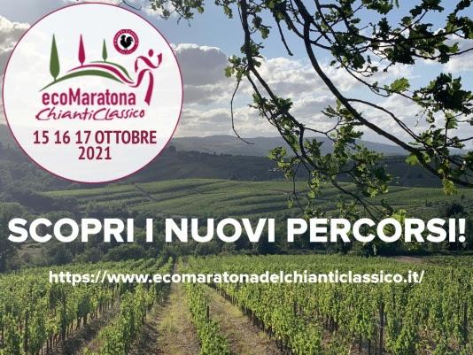 EcoMaratona del Chianti Classico: tutti nuovi i percorsi della 14^ edizione del 17 ottobre