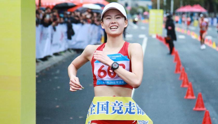 Marcia: la  primatista mondiale dei 20 Km Yang Jiayu,  vince i Giochi nazionali cinesi