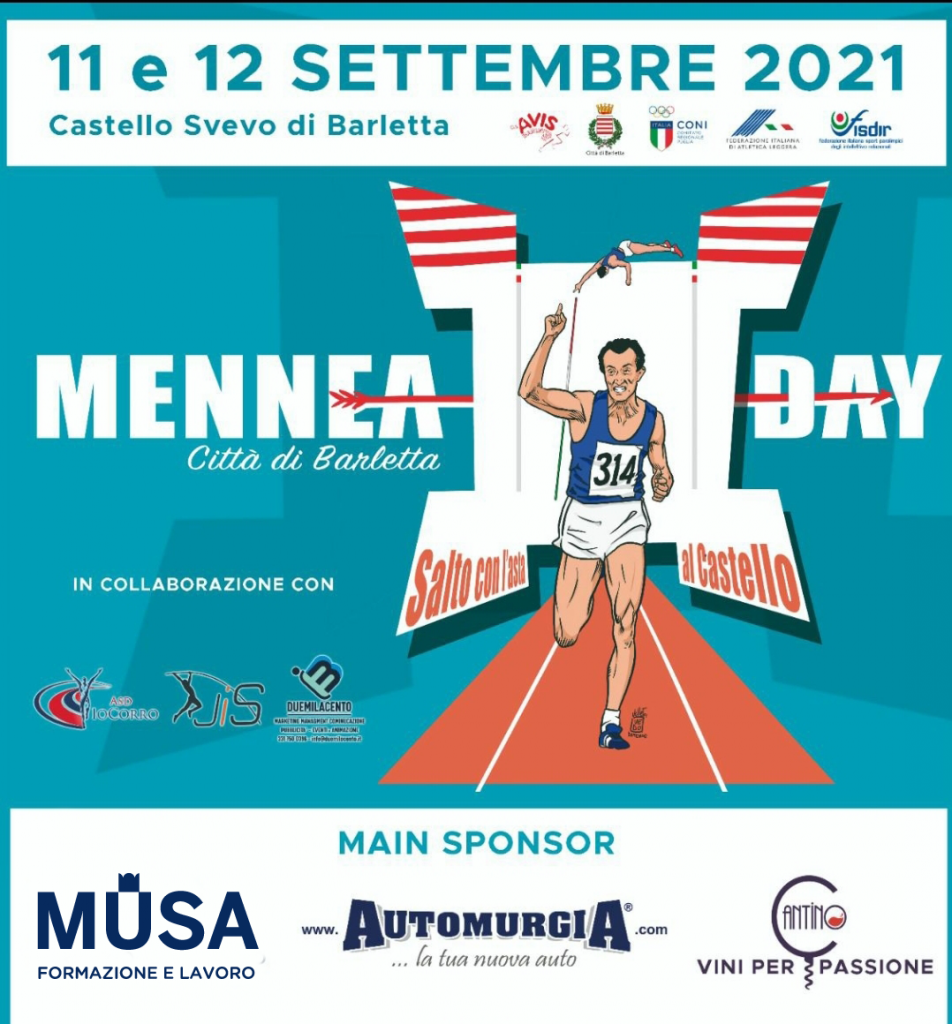 MENNEA DAY- Città di Barletta. 11 e 12 settembre 2021, il programma