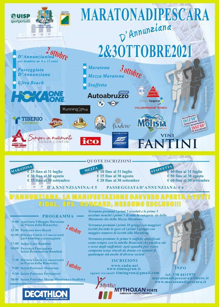Maratona D'Annunziana: presentazione e conto alla rovescia verso la 21°edizione
