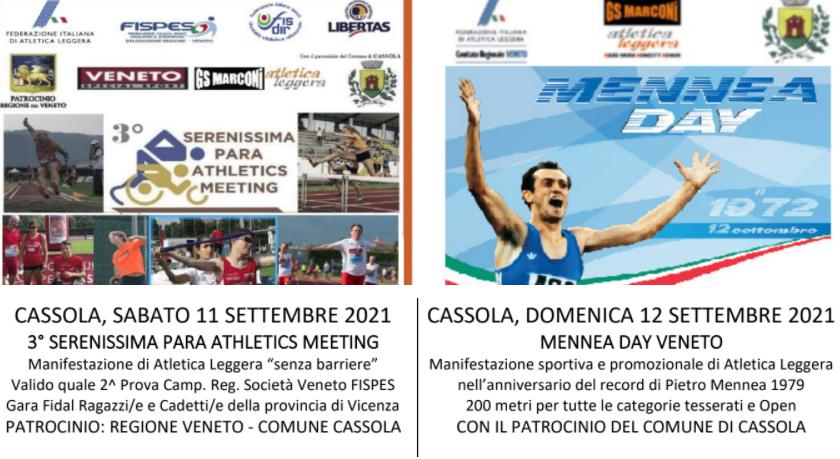 """11 e 12 settembre, tornano il Serenissima Para Athletics Meeting e il Mennea Day: le """"stelle"""" attese del mondo Fidal e paralimpico"""