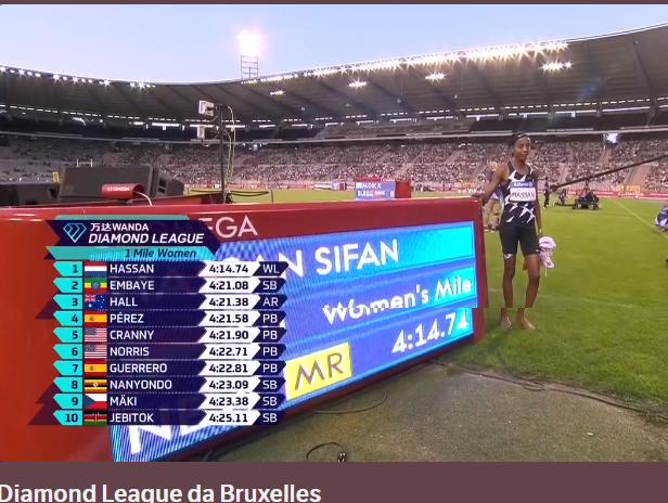 """Bruxelles risultati: Sifan Hassan vince il miglio, Fred Kerley i 100 metri sotto i 10""""-LA DIRETTA STREAMING FREE"""