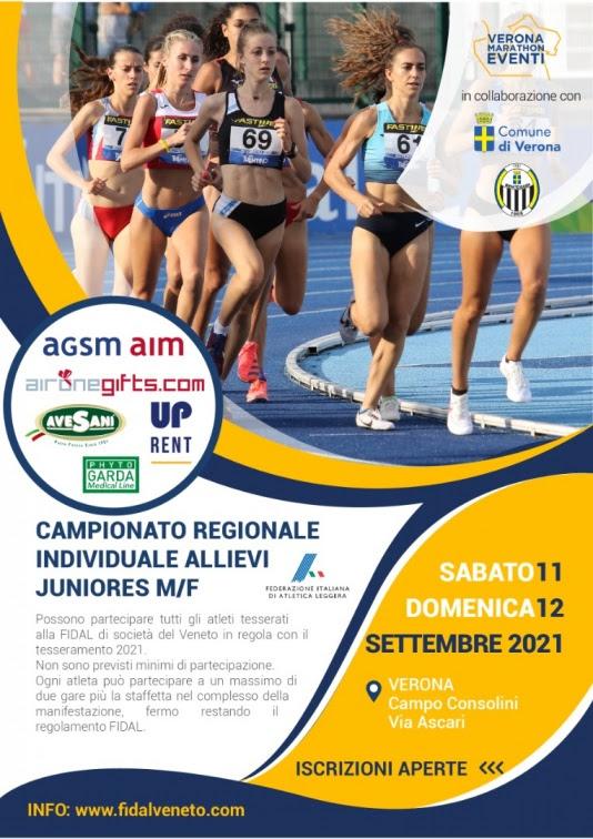 Gaac Veronamarathon ASD organizza i Campionati Regionali Fidal Veneto Individuali Allievi e Juniores