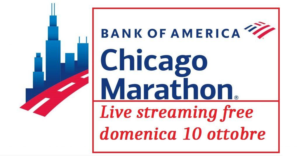Oggi la DIRETTA STREAMING FREE della Maratona di Chicago ore 14:15
